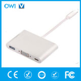 Type-C 3.1 Male to Type-C 3.1 Female+VGA Female+USB 3.0 Female Hub