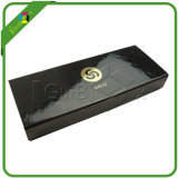 Fashion Design Custom Glossy Black Paper Packaging Box
