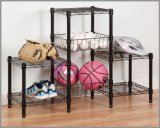 Chrome Space Saver Living Room Metal Wire Rack (CJ454580B3E)