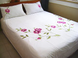 The Peony Embroidery Bedding Set