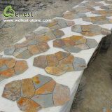 S015 Rustic Brown Multi Color Slate Meshed Garden Paving Stone
