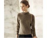Women′s Cashmere Sweater Round Neck 16brdw018