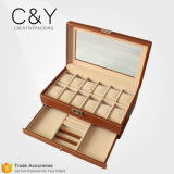 Custom Multifunction Luxury Wooden 12 Slots Wrist Watch Storage Box