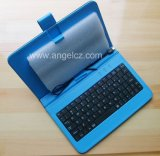 2013 New Tablet Wired Keyboard with High-Quality Leather Case