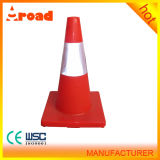 Aroad Hot Sale Red 50cm PVC Traffic Cone with Highly Visible Reflectives