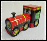 Train shaped tin can for candy packaging