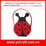 Easter Decoration (ZY14C929 29CM) Easter Craft Beetle Easter Felt Basket