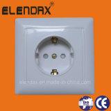 European Style Flush Mounted Shucko Socket Outelt Single Socket with Earth (F6010)