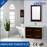 Simple Wall Mounted Wood Vanity Bathroom Cabinet