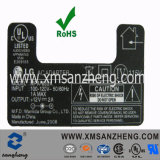 UL Certified Electronic Self Adhesive Water Resistant Semi Glossy Electrical Device Stickers Nameplate