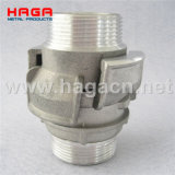 Aluminum Guillemin Coupling Male Thread with Locking Ring
