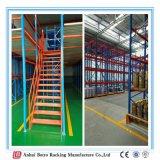 China Best Selling Powder-Coating and Heavy Duty Mezzanine Racking Working Platform 500kgs Per Sqm