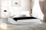 Modern Bedroom Furniture Leather Bed with Small Trays (HC038)