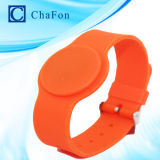 Lf Hf UHF RFID Silicon Wristband Tag (Round) with Waterproof, Damproof, Shockproof and Thermostability