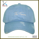 Distressed Worn out Embroidered Baseball Hat Cap