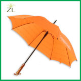 Chinese Wholesale Professional Manufacturer Promotional Rain Straight Umbrella with Wooden Handle