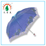 Color Change Unique Chinese Style Embroidered Folding Umbrella