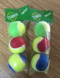 Colorful 3PCS Plastic Bag with Header Tennis Ball