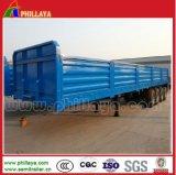 3axles 40-60tons Detachable Side Wall Enclosed Cargo Semi Trailer