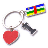 New Custom Metal Souvenir Central Africa Keyring