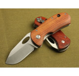 New Design OEM Wood Handle Pocket Knife