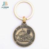 Jiabo Die Casting Bronze 3D Logo Metal Zinc Alloy Keyholder with Keyring