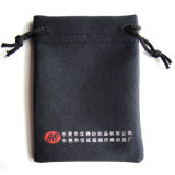 Custom Suede Drawstring Pen Phone Pouch