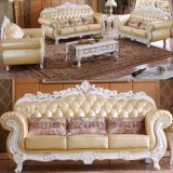 Wood Leather Sofa for Living Room Furniture (L929)