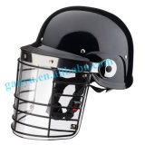 Police Safety Equipment Riot Helmet with Metal Net Visor