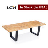 Outdoor Garden Bench Simple Wooden Nelson Platform Bench in Stock (122*47*36cm)