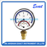 Combined Pressure & Temperature Gauge-Manometer and Thermometer