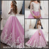 Purple Ball Junior Bridesmaid Gowns Tulle Flower Girls Dresses Z1056