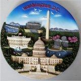 High Quality Custom Resin Souvenir Plate with Washington Image