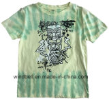 Hiphop Style Cotton T-Shirt for Boy with Tie Dye