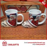 Christmas Promotional Ceramic Coffee Cup with Special Shape