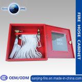 Red Metal Fire Hose Cabinet