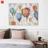 Handmade Wall Decor Hot Air Balloon Canvas Oil Painting