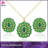 Fashion Copper Alloy Gold Plated CZ Jewelry Sets for Women Party