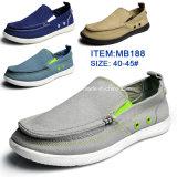 Hottest Men′s Slip-on Leisure Shoes Canvas Shoes Wholesale Customize (MB188)
