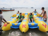 3 Tubes Inflatable Flying Fish Banana Boat for Water Sports