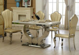 Modern Furniture Dining Table with Marble Top