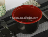 500ml Red Black Injection Disposable Plastic Hot Soup Bowl
