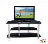 Simple Black Glass TV Stand (TV062)