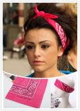 Factory Produce Custom Printed Cotton Paisley Head Bandana Wrap