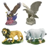 Polyresin Eagle, Wildlife Animal