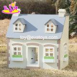 New Design Children Solid Wood Victorian Dolls House W06A236
