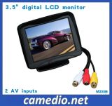 3.5-Inch Car Rearview LCD Monitor with 2 AV Inputs