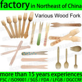 Disposable Wood Fork Logo Printed Wooden Chip Fork