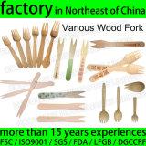 Disposable Wood Fork Logo Printed Wooden Chip Fork