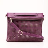 Hollow out Dark Purple Crossbody Handbag (MBNO037086)